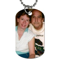 Me And My Husband By Shirley   Dog Tag (two Sides)   Q2dcw40oot2q   Www Artscow Com Front
