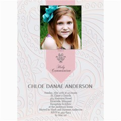 First Communion Card  By Lana Laflen   5  X 7  Photo Cards   Angx2wepd4rw   Www Artscow Com 7 x5 Photo Card - 1