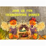 Thanksgiving Invite - 5  x 7  Photo Cards