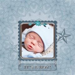 Baby Boy Memory Keeper 12  Storage Stool By Lil    Storage Stool 12    6539pmnsd24u   Www Artscow Com Front