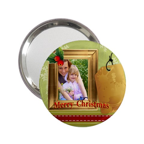 Merry Christmas By Joely   2 25  Handbag Mirror   Lfdypyii2uv9   Www Artscow Com Front