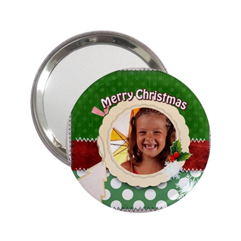 Merry Christmas By Joely   2 25  Handbag Mirror   J6vc9sqpe4vt   Www Artscow Com Front