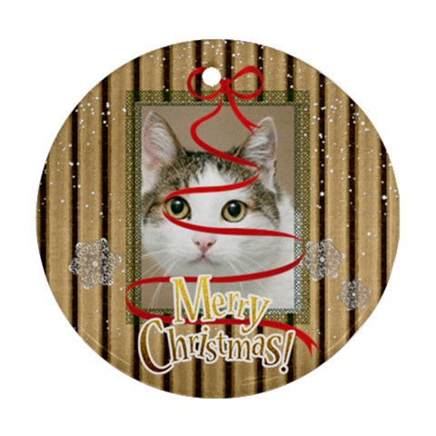 Merry Christmas By Joely   Ornament (round)   Hno8bcs06y32   Www Artscow Com Front