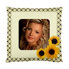 Sunflower Gold (2 Sided) Cushion By Deborah   Standard Cushion Case (two Sides)   7xahswszoew1   Www Artscow Com Front