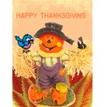 Scarecrow Thanksgiving card - Greeting Card 4.5  x 6
