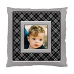 Silver and Black Cushion (2 sided) - Standard Cushion Case (Two Sides)