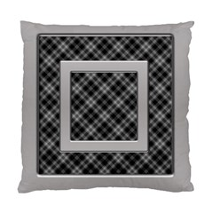 Silver And Black Cushion (2 Sided) By Deborah   Standard Cushion Case (two Sides)   F5jerf8sm8vs   Www Artscow Com Back