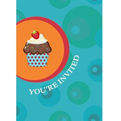 Cupcake Birthday Invite By Lana Laflen   Greeting Card 5  X 7    Hdbm6d8x7mtp   Www Artscow Com Front Cover