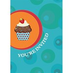 Cupcake Birthday Invite - Greeting Card 5  x 7