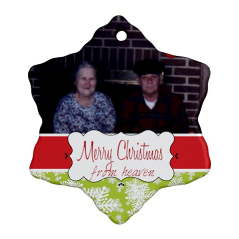 Gram And Pop2 By Kristin   Ornament (snowflake)   Dxm1yyo53wbc   Www Artscow Com Front