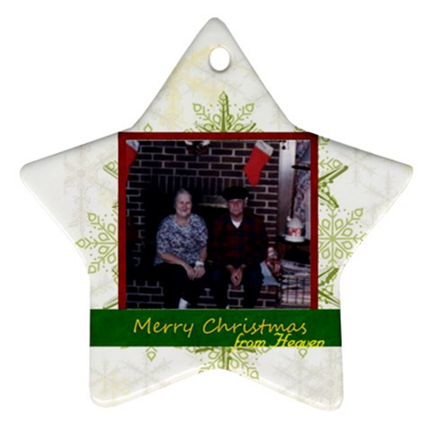 Gram And Pop3 By Kristin   Ornament (star)   0h91zey2z229   Www Artscow Com Front