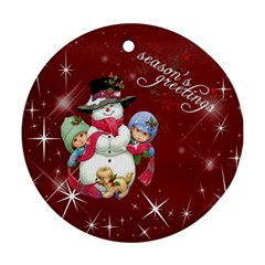 Christmas Collection Round Ornament (two Sides) By Picklestar Scraps   Round Ornament (two Sides)   Z2x9l8o84bvt   Www Artscow Com Back