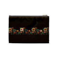 Brown Flower  By Lana Laflen   Cosmetic Bag (medium)   Ez3vfg7z7cyp   Www Artscow Com Back