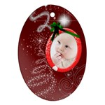 Christmas Collection Oval Ornament (Two Sides)