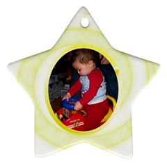 Gold Swirl Star Ornament By Cynthia Marcano   Star Ornament (two Sides)   Fswe5low9itq   Www Artscow Com Front