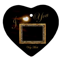 I Heart You Moon 2 Side Ornament By Ellan   Heart Ornament (two Sides)   Ia4xvsqp38aa   Www Artscow Com Front