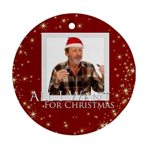 Xmas Gift By May   Ornament (round)   Ovudmee8zh3o   Www Artscow Com Front
