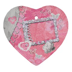 Spring Pink 2 Side Heart Ornament By Ellan   Heart Ornament (two Sides)   Xzrkh4futeoh   Www Artscow Com Back