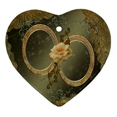Neutral Gold 2 Side Heart Ornament By Ellan   Heart Ornament (two Sides)   Tzypm4j39gyy   Www Artscow Com Front