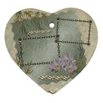 Neutral gold 2 side Heart ornament - Heart Ornament (Two Sides)