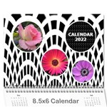 Modern Black and White Calendar 2018 (any Year) 8.5x6 - Wall Calendar 8.5  x 6
