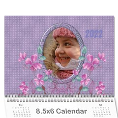 Pretty In Mauve 2018 (any Year)calendar, 8 5x6 By Deborah   Wall Calendar 8 5  X 6    5x4ttpugz6a5   Www Artscow Com Cover