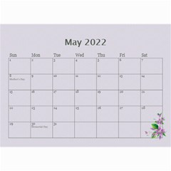 Pretty In Mauve 2018 (any Year)calendar, 8 5x6 By Deborah   Wall Calendar 8 5  X 6    5x4ttpugz6a5   Www Artscow Com May 2018
