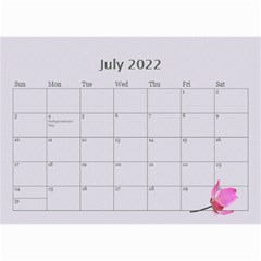 Pretty In Mauve 2018 (any Year)calendar, 8 5x6 By Deborah   Wall Calendar 8 5  X 6    5x4ttpugz6a5   Www Artscow Com Jul 2018