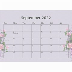 Pretty In Mauve 2018 (any Year)calendar, 8 5x6 By Deborah   Wall Calendar 8 5  X 6    5x4ttpugz6a5   Www Artscow Com Sep 2018