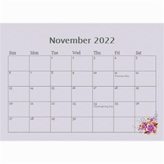 Pretty In Mauve 2018 (any Year)calendar, 8 5x6 By Deborah   Wall Calendar 8 5  X 6    5x4ttpugz6a5   Www Artscow Com Nov 2018