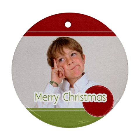 Xmas Gift  By May   Ornament (round)   H2gwgnl87m34   Www Artscow Com Front