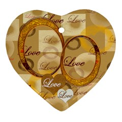 Love Gold 2 Side Ornament By Ellan   Heart Ornament (two Sides)   Hd4o0av730sa   Www Artscow Com Front