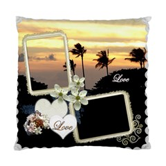 Wedding Love Palm Sunset Double Sided Cusion Case By Ellan   Standard Cushion Case (two Sides)   3i0num6xt6fu   Www Artscow Com Front
