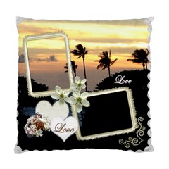 Wedding Love Palm Sunset Double Sided Cusion Case By Ellan   Standard Cushion Case (two Sides)   3i0num6xt6fu   Www Artscow Com Back