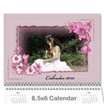 Framed with Flowers 2017 (any Year) Calendar 8.5x6 - Wall Calendar 8.5  x 6