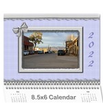 Elegant in Silver 2017 (any Year) Calendar 8.5x6 - Wall Calendar 8.5  x 6