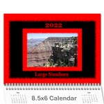 All Framed 2017 LARGE NUMBERS Calendar 8.5x6 - Wall Calendar 8.5  x 6