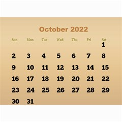 Male Calendar 2018 (large Numbers) 8 5x6 By Deborah   Wall Calendar 8 5  X 6    98of815gs3bp   Www Artscow Com Oct 2018