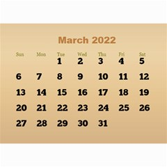 Male Calendar 2018 (large Numbers) 8 5x6 By Deborah   Wall Calendar 8 5  X 6    98of815gs3bp   Www Artscow Com Mar 2018