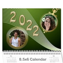 Styled In Green 2018 Calendar (large Numbers) Mini By Deborah   Wall Calendar 8 5  X 6    Sqwvu9m43v5f   Www Artscow Com Cover