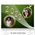 Styled in Green 2017 Calendar (large Numbers) mini - Wall Calendar 8.5  x 6