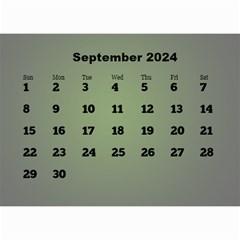 Styled In Green 2017 Calendar (large Numbers) Mini By Deborah   Wall Calendar 8 5  X 6    Sqwvu9m43v5f   Www Artscow Com Sep 2017