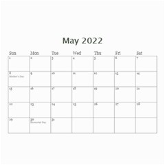 Showcase 2016 (any Year) Calendar 8 5x6 By Deborah   Wall Calendar 8 5  X 6    C1w82s112vma   Www Artscow Com May 2016