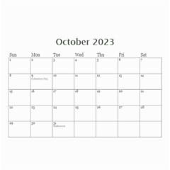 Mini Calendar For Guys By Jennyl   Wall Calendar 8 5  X 6    Jcynjk6v2wum   Www Artscow Com Oct 2016