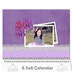 Mini Calendar: Lavander Dreams - Wall Calendar 8.5  x 6