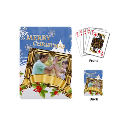 Christmas By Joely   Playing Cards (mini)   Ka5th0283hkd   Www Artscow Com Back