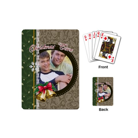 Christmas By Joely   Playing Cards (mini)   A4th8tvf5f9p   Www Artscow Com Back
