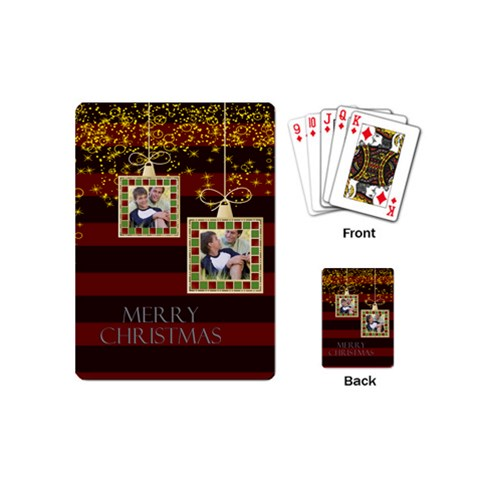 Christmas By Joely   Playing Cards (mini)   9p75y52kih6g   Www Artscow Com Back