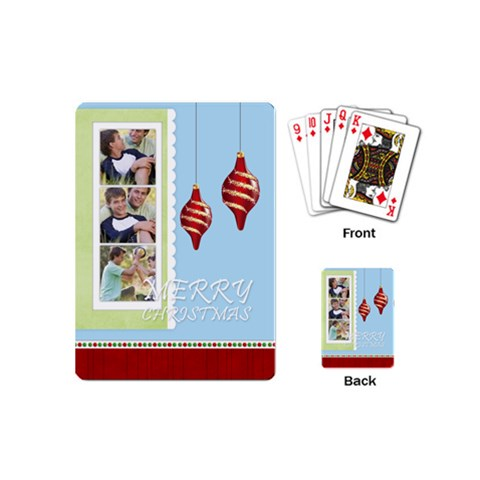 Christmas By Joely   Playing Cards (mini)   Bjce4rut365g   Www Artscow Com Back