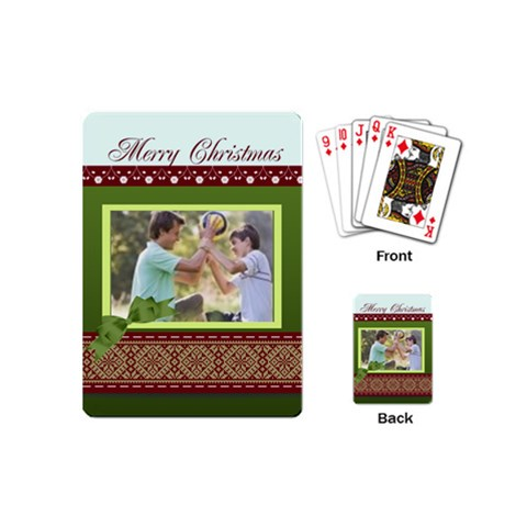 Christmas By Joely   Playing Cards (mini)   Idifknzyl48q   Www Artscow Com Back